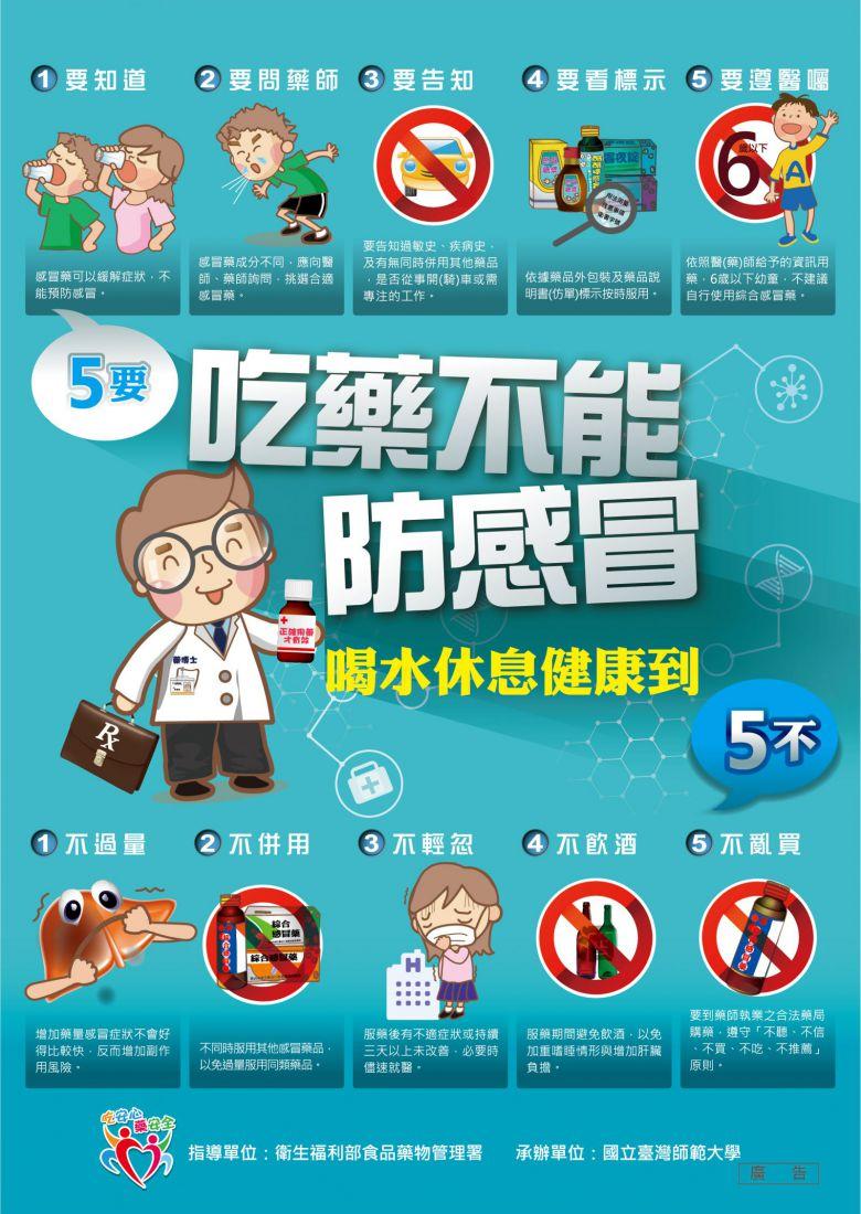 吃藥不能防感冒海報-1