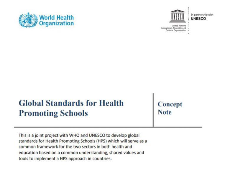 全球健康促進學校標準(概念說明)