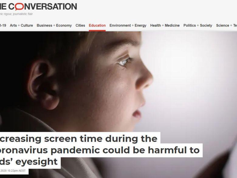 在COVID-19流行期間,螢幕使用時間增加恐會傷害孩童視力